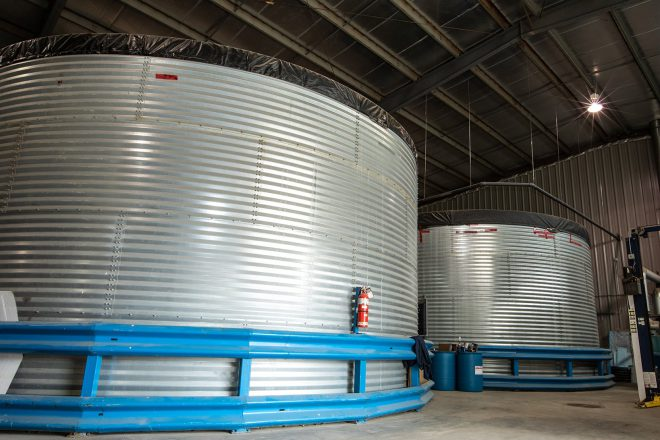 Large water holding tanks