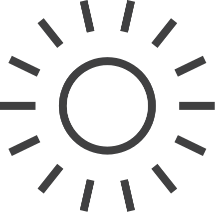 light and climate control icon